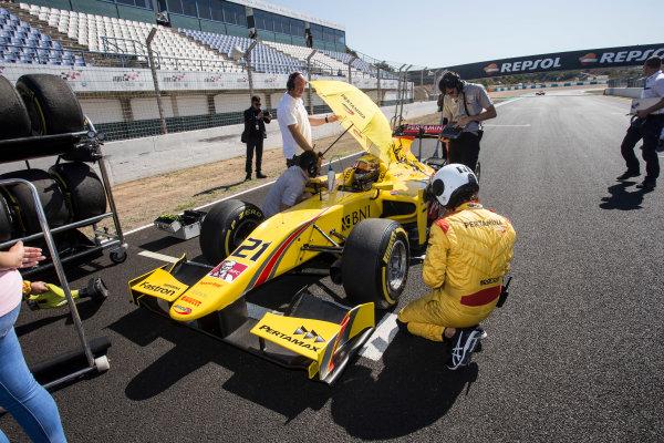 2017 FIA Formula 2 Round 10. Circuito de Jerez, Jerez, Spain. Saturday 7 October 2017. Sean Gelael (INA, Pertamina Arden).  Photo: Andrew Ferraro/FIA Formula 2. ref: Digital Image _FER1527