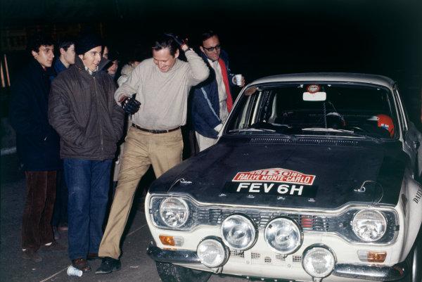 Monte Carlo, Monaco. 16th - 24th January 1970.Timo Makinen/Henry Liddon (Ford Escort TC), 7th position, portrait. World Copyright: LAT Photographic.Ref: 70MCRALLY31.