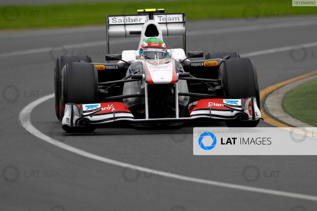 Albert Park, Melbourne, Australia 25th March 2011. Sergio Perez, Sauber C30 Ferrari. Action.  World Copyright: Andrew Ferraro/LAT Photographic ref: Digital Image _Q0C8280