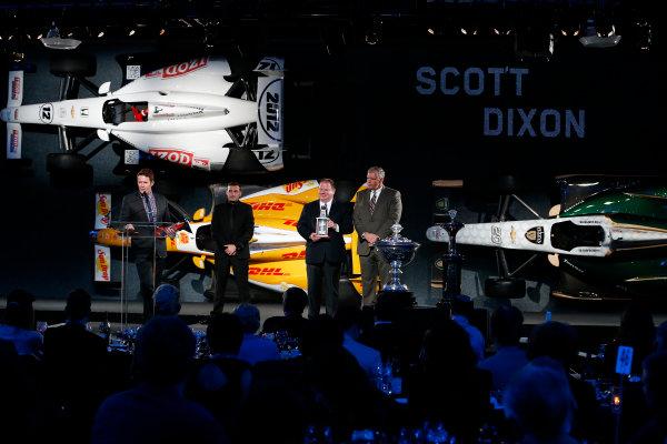 6 December, 2012, Indianapolis, Indiana, USA 3rd place finisher Scott Dixon.(c) 2012, Michael L. Levitt LAT Photo USA