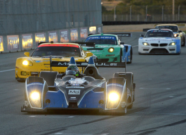 9-11 May, 2013, Monterey, California USA.#52 PR1 Mathiasen Motorsport's Oreca FLM09 followed by #3 Corvette, #17 Porsche and #56 BMW ©2013, Dan R. Boyd LAT Photo USA