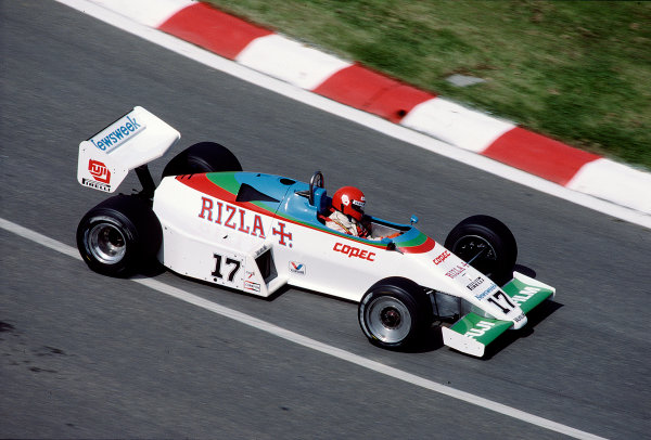 1983 Belgian Grand Prix.Spa-Francorchamps, Belgium.12-15 May 1983.Eliseo Salazar (Ram March 01 Ford).Ref-83 BEL 25.World Copyright - LAT Photographic