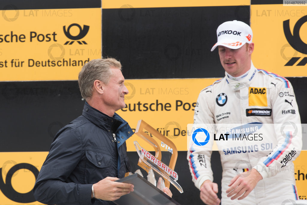 2017 DTM Round 4 Norisring, Nuremburg, Germany Saturday 1 July 2017. Podium: David Coulthard and Maxime Martin, BMW Team RBM, BMW M4 DTM World Copyright: Mario Bartkowiak/LAT Images ref: Digital Image 2017-07-01_DTM_Norisring_R1_0522