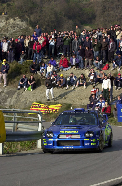 2002 World Rally ChampionshipRally Catalunya, 21st-24th March 2002.Petter Solberg on Stage 13.Photo: Ralph Hardwick/LAT