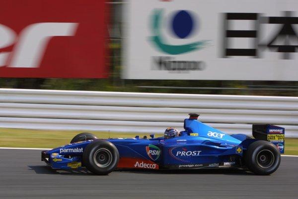 2001 Japanese Grand Prix - Friday / PracticeSuzuka, Japan. 20th October 2001.Heinz-Harald Frentzen (Prost).World Copyright - LAT Photographicref: 8 9 MB Digital