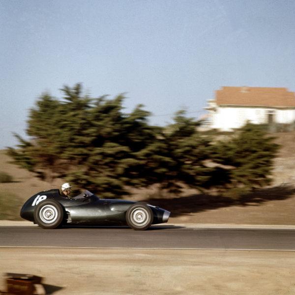 1958 Moroccan Grand Prix.Ain-Diab, Casablanca, Morocco.17-19 October 1958.Jo Bonnier (BRM P25) 4th position.Ref-3/0121.World Copyright - LAT Photographic