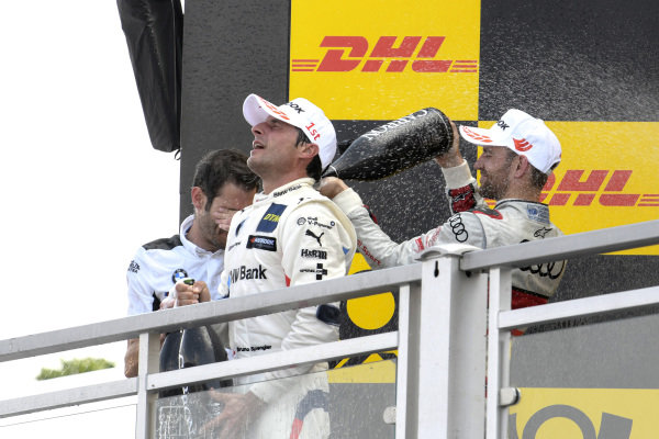 Podium, Bruno Spengler, BMW Team RMG, Jamie Green, Audi Sport Team Rosberg.