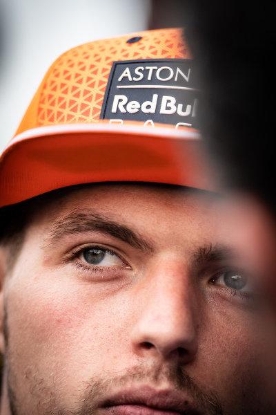 Max Verstappen, Red Bull Racing talks to the media