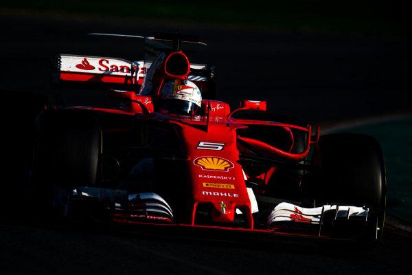 Sebastian Vettel (GER) Ferrari SF70-H at Formula One World Championship, Rd1, Australian Grand Prix, Race, Albert Park, Melbourne, Australia, Sunday 26 March 2017.