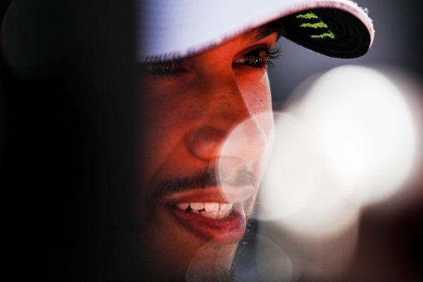 Lewis Hamilton, Mercedes AMG F1 talks to the media