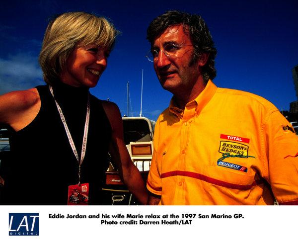 1997 San Marino Grand Prix.Imola, Italy.25-27 April 1997.Eddie and Marie Jordan.World Copyright - LAT Photographic