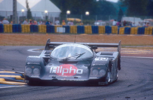 1990 Le Mans 24 Hours. Le Mans, France. 16-17 June 1990. Tiff Needell/David Sears/Anthony Reid. Alpha Racing Team. (Porsche 962C) 3rd position. World Copyright: LAT Photographic. Ref:  90LM01.