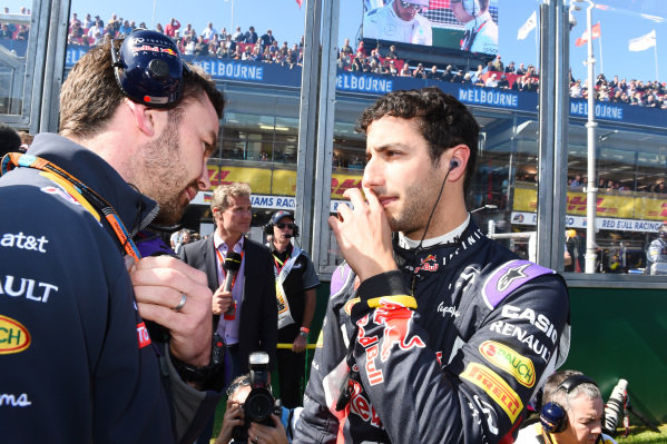 Daniel Ricciardo (AUS) Red Bull Racing on the grid at Formula One World Championship, Rd1, Australian Grand Prix, Race, Albert Park, Melbourne, Australia, Sunday 15 March 2015.