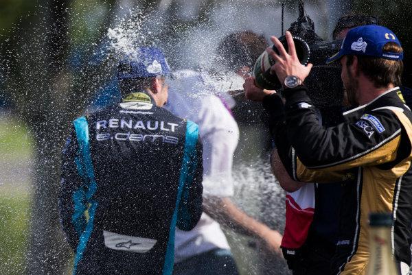 2016/2017 FIA Formula E Championship. Buenos Aires ePrix, Buenos Aires, Argentina. Saturday 18 February 2017. Sebastien Buemi (SUI), Renault e.Dams, Spark-Renault, Renault Z.E 16. & Jean-Eric Vergne (FRA), Techeetah, Spark-Renault, Renault Z.E 16.  Photo: Sam Bloxham/LAT/Formula E ref: Digital Image _SLA8514