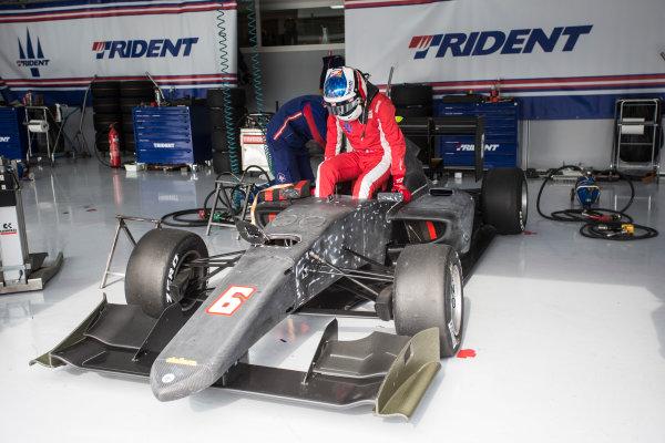 2018 GP3 Series Test 1. Circuit Paul Ricard, Le Castellet, France. Thursday 22 February 2018. Giuliano Alesi (FRA, Trident) Photo: Andrew Ferraro/GP3 Series Media Service. ref: Digital Image _FER1968