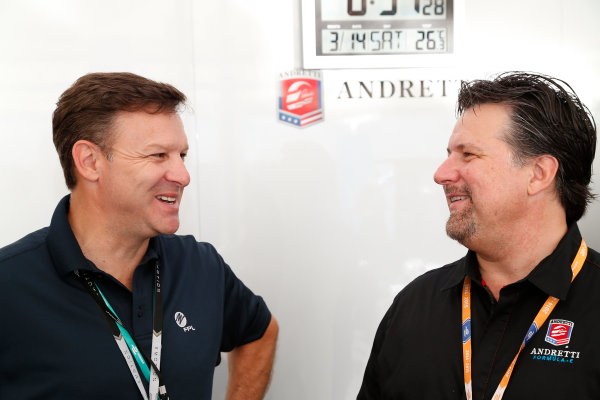 Miami e-Prix 2015. First Practice Session Michael Andretti - Andretti President, Chairman and CEO.  FIA Formula E World Championship. Miami, Florida, USA. Saturday 14 March 2015.  Copyright: Adam Warner / LAT / FE ref: Digital Image _L5R3413