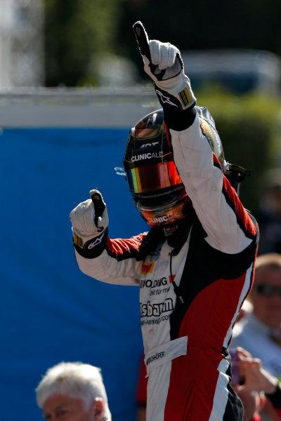 2015 GP3 Series Round 6. Autodromo Nazionale di Monza, Monza, Italy. Sunday 6 September 2015. Marvin Kirchhofer (GER, ART Grand Prix) celebrates his win in parc ferme. World Copyright: Sam Bloxham/LAT Photographic. ref: Digital Image _SBL3709