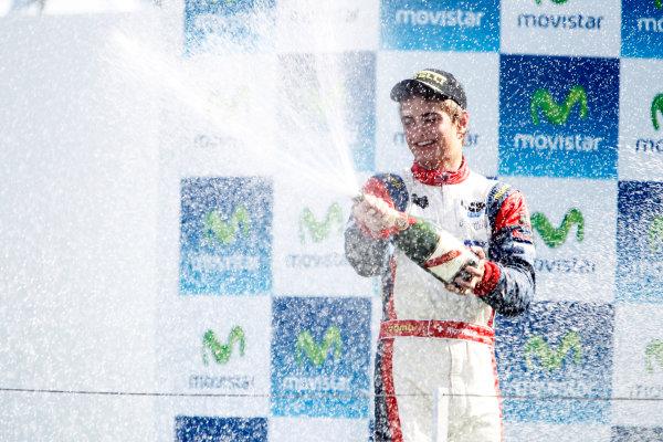 Round 3. Valencia, Spain. 27th June 2010.Sunday Race.Nico Muller, (Sui, Jenzer Motorsport) celebrates on the podium. Portrait. World Copyright: Glenn Dunbar/GP3 Media Service.Digital Image _G7C0795