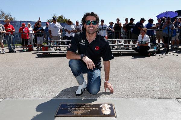 12-15  September 2012, Fontana, California, USADario Franchitti leaves his mark in the ACS walk of fame(c) 2012, Michael L. LevittLAT Photo USA