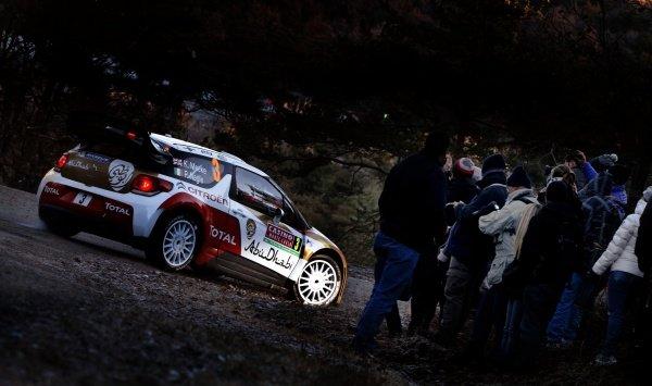 Kris Meeke (GBR) / Paul Nagle (IRE), Citroen DS3 WRC on the Shakedown Stage. FIA World Rally Championship, Rd1, Rally Monte Carlo, Preparatons, Monte Carlo, 13-15 January 2014.