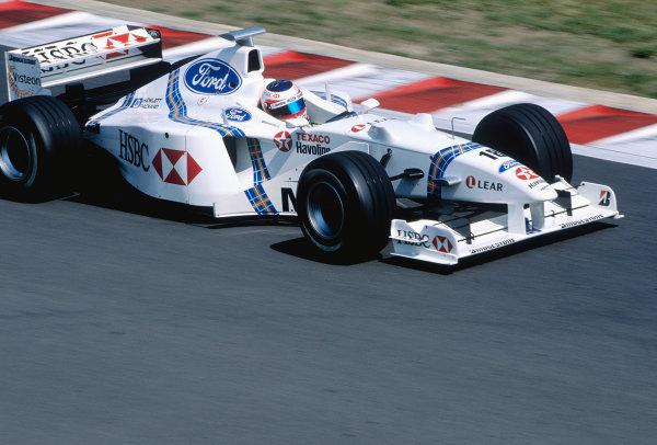 Hingaroring, Budapest, Hungary. 14-16 August 1998.Rubens Barrichello (Stewart SF2 Ford).Ref-98 HUN 68.World Copyright - Charles Coates/LAT Photographic