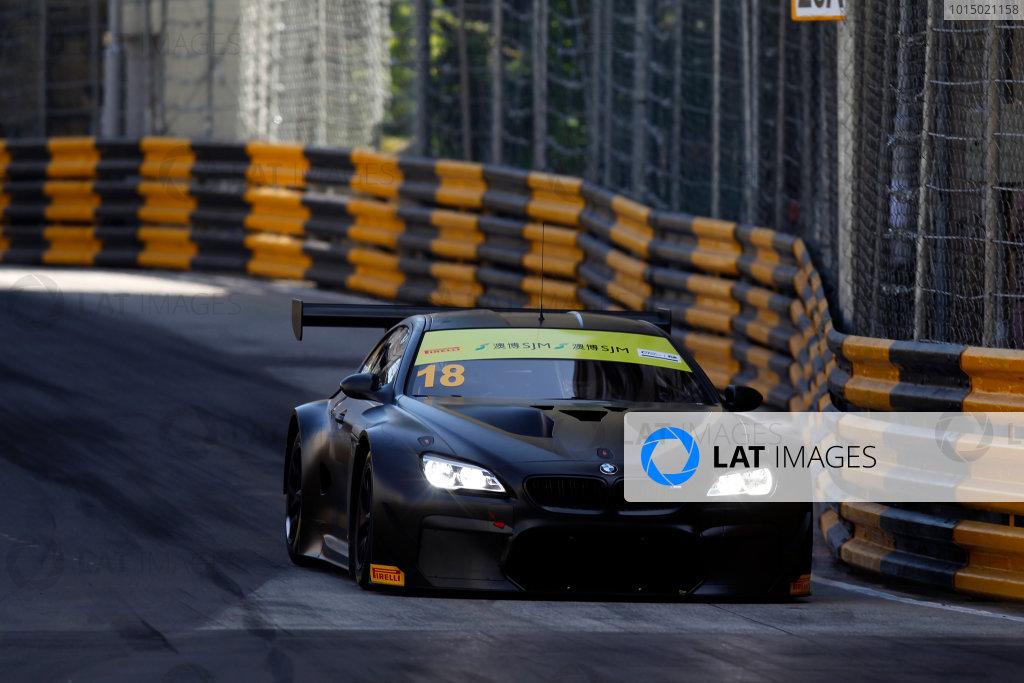 2015 FIA GT World Cup Circuit de Guia, Macau, China Friday 17 November 2017. Augusto Farfus, BMW Team Schnitzer, BMW M6 GT3  World Copyright: Alexander Trienitz/LAT Images ref: Digital Image 2017-Macau-GP-AT1-1577