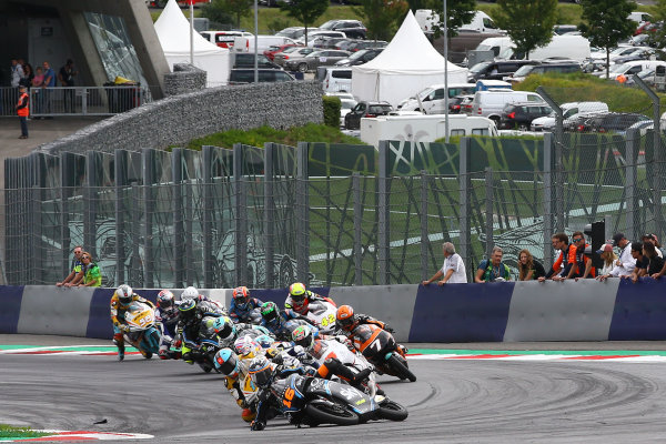 2017 Moto3 Championship - Round 11 Spielberg, Austria Sunday 13 August 2017 Crash, Andrea Migno, Sky Racing Team VR46 World Copyright: Gold and Goose / LAT Images ref: Digital Image 687207