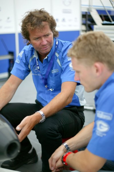 2007 British Formula Three Championship. Spa, Belgium. 26th - 28th July 2007.Trevor Carlin with Maro Engel (Carlin Motorsport).Portrait.World Copyright: Drew Gibson/LAT Photographic.Ref: Digital Image Only.