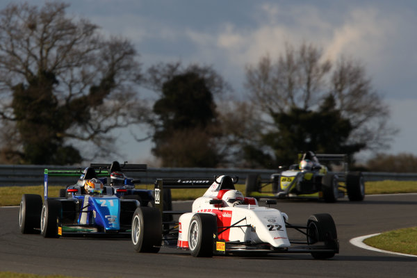2016 BRDC British Formula 3 Championship, Snetterton, Norfolk. 27th - 28th March 2016. Akhil Rabindra (IND) Lanan Racing BRDC F3. World Copyright: Ebrey / LAT Photographic.