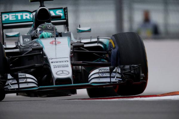 Sochi Autodrom, Sochi, Russia. Friday 9 October 2015. Nico Rosberg, Mercedes F1 W06 Hybrid. World Copyright: Glenn Dunbar/LAT Photographic ref: Digital Image _W2Q9800