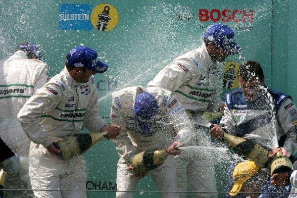 Lucas Luhr (MON) / Timo Bernhard (GER) / Mike Rockenfeller (GER) / Marcel Tiemann (MON) Manthey Racing won the race. Nurburgring 24 Hour Race, Nurburgring, Germany 17-18 June 2006 DIGITAL IMAGE