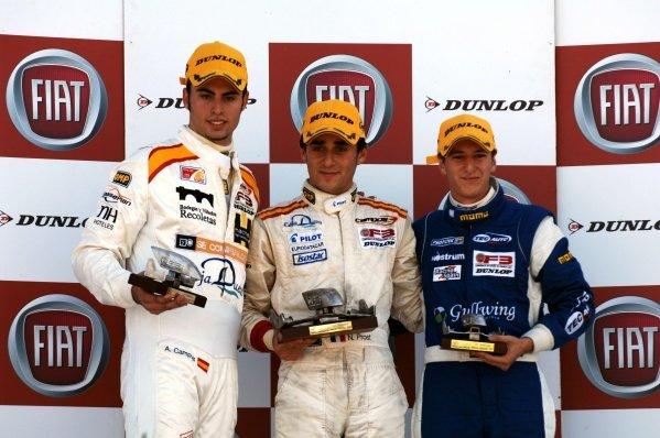 Race 2 podium and results:1st Nicolas Prost (FRA), Campos Racing, centre.2nd Adrian Campos Jr (ESP), Campos Racing, left.3rd Maximo Cortes (ESP), TEC Auto, right.Spanish Formula Three Championship, Rds11&12, Valencia, Spain, 28-30 September 2007.