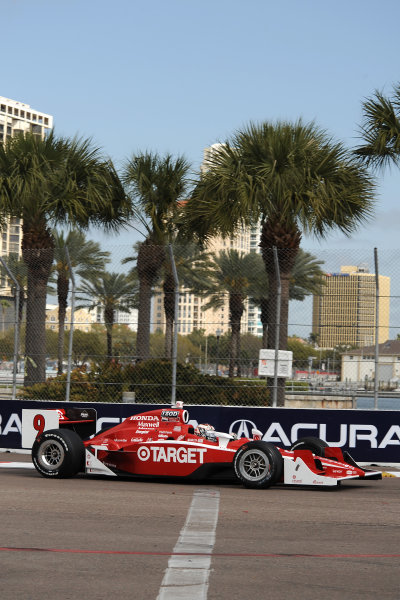 26-28 March 2010, St petersburg, Florida USA#9 Target Chip Ganassi Racing's Scott Dixon.©Dan R. Boyd LAT Photographic USA