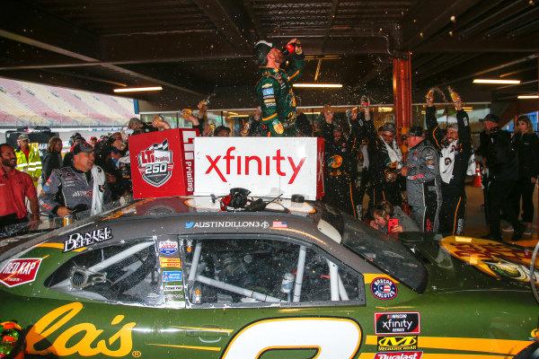 #3: Austin Dillon, Richard Childress Racing, Chevrolet Camaro Bass Pro Shops / Cabela's celebrates in victory lane