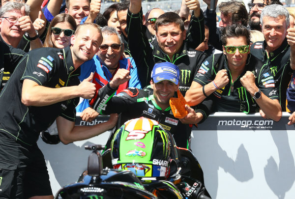 2017 MotoGP Championship - Round 5 Le Mans, France Sunday 21 May 2017 Second place Johann Zarco, Monster Yamaha Tech 3 World Copyright: Gold & Goose Photography/LAT Images ref: Digital Image 672124