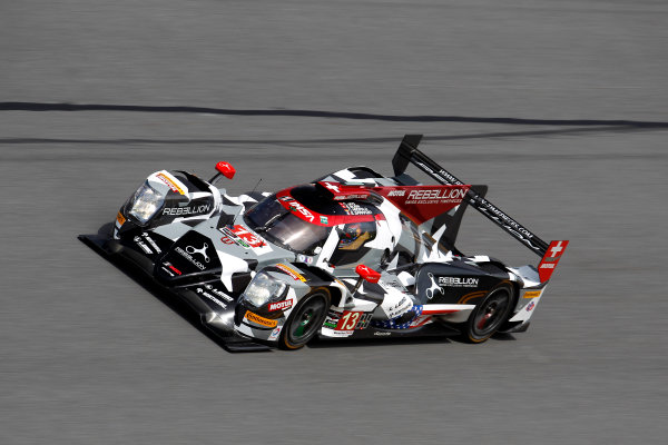 2017 Rolex 24 Hours. Daytona, Florida, USA Thursday 26 January 2017. #13 Rebellion Racing ORECA 07: Neel Jani, S?bastien Buemi, St?phane Sarrazin, Nick Heidfeld World Copyright: Alexander Trienitz/LAT Images ref: Digital Image 2017-24h-Daytona-AT2-0701