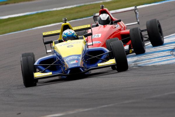 2013 MSA Formula Ford Championship of Great Britain. Donington Park, Leicestershire. 20th - 21st April 2013. Harrison Scott (GBR) Falcon Motorsport Formula Ford 200. World Copyright: Ebrey / LAT Photographic.