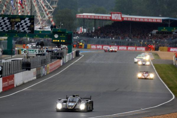 Circuit de La Sarthe, Le Mans, France. 21st June 2013. Kevin Weeda/James Rossiter/Christophe Bouchut, Lotus LMP2, No.31 Lotus-Praga T128, Action.  World Copyright:  ref: Digital Image _R6T3954