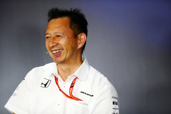 Red Bull Ring, Spielberg, Austria. Friday 07 July 2017. Yusuke Hasegawa, Senior Managing Officer, Honda, in the Friday press conference. World Copyright: Andy Hone/LAT Images ref: Digital Image _ONY0009