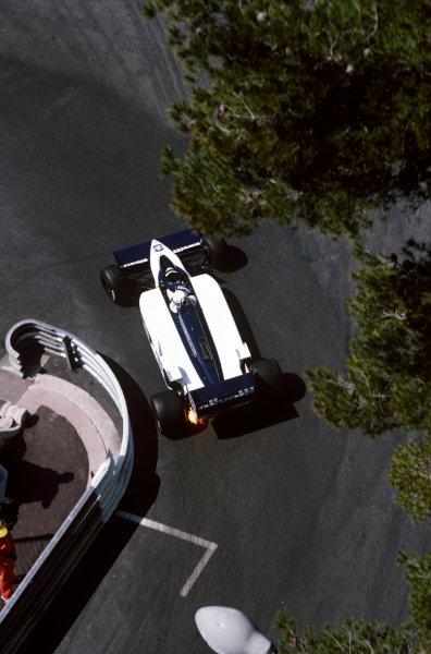 Monte Carlo, Monaco. 8-11 May 1986. Elio de Angelis (Brabham BT55 BMW), retired, action. World Copyright: LAT Photographic.Ref:  86MON35.