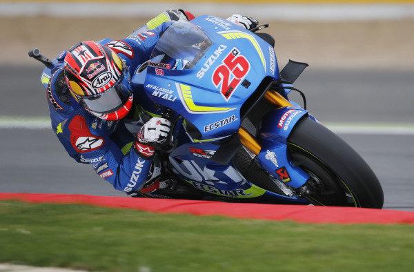 2016 MotoGP Championship.  British Grand Prix.  Silverstone, England. 2nd - 4th September 2016.  Maverick Vinales, Suzuki.  Ref: _W7_5891a. World copyright: Kevin Wood/LAT Photographic