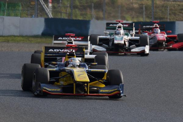 2016 Japanese Super Formula. Okayama, Japan.  Saturday 10 September 2016. Rd 5. Race1 3rd position Narain Karthikeyan ( #7 SUNOCO TEAM LEMANS SF14 ) action World Copyright: Yasushi Ishihara/LAT Photographic Ref : 2016SF_Rd5_R1_017