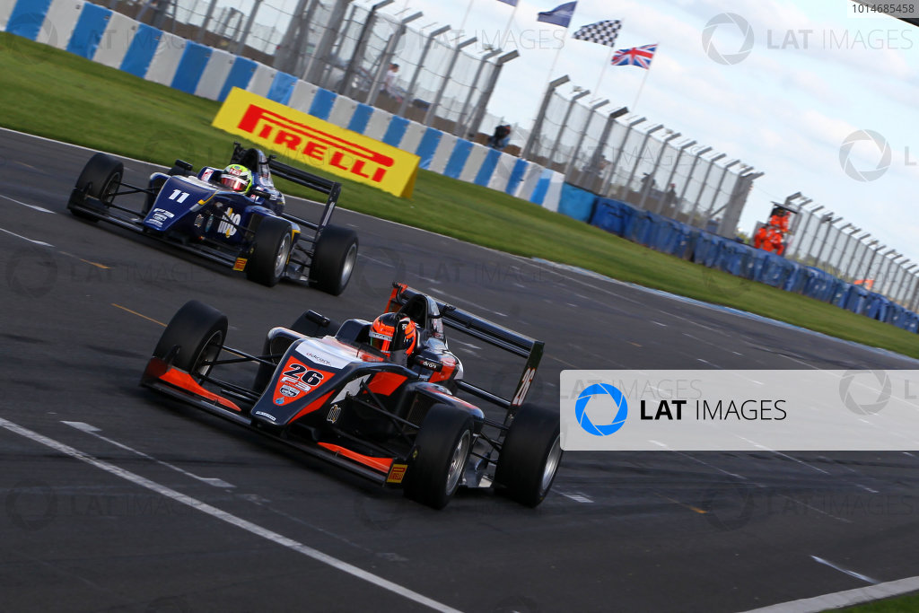 2016 BRDC F3 Championship, Donington Park, Leicestershire. 10th - 11th September 2016. Matheus Leist (BRA) Double R Racing BRDC F3. World Copyright: Ebrey / LAT Photographic.