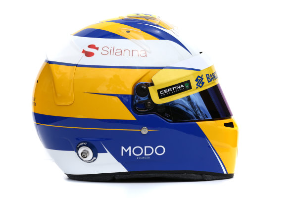 Albert Park, Melbourne, Australia. Helmet of Marcus Ericsson, Sauber.  Thursday 12 March 2015. World Copyright: LAT Photographic. ref: Digital Image 2015_Helmet_024