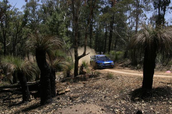 2004 FIA World Rally Champs. Round Sixteen, Rally Australia.11th - 14th November 2004.Petter Solberg, Subaru, action.World Copyright: McKlein/LAT
