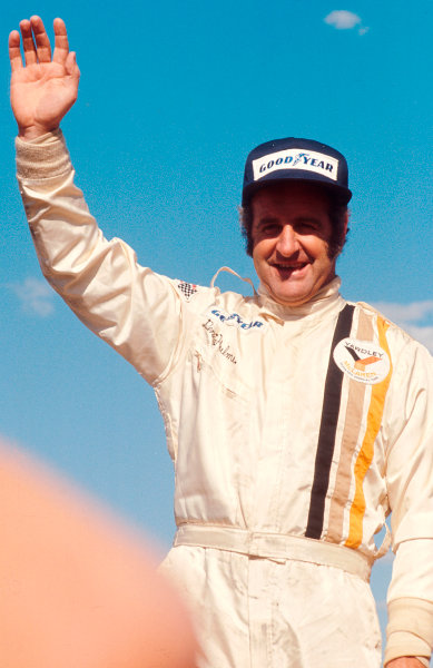 1973 Swedish Grand Prix.Anderstorp, Sweden.15-17 June 1973.Denny Hulme (McLaren Ford) 1st position on the podium.Ref-73 SWE 01.World Copyright - LAT Photographic
