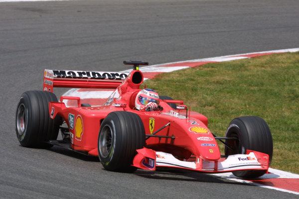 2001 Spanish Grand PrixCatalunya, Barcelona, Spain. 27-29 April 2001.Rubens Barrichello (Ferrari F2001).World Copyright - LAT Photographicref: 8 9 MB Digital File