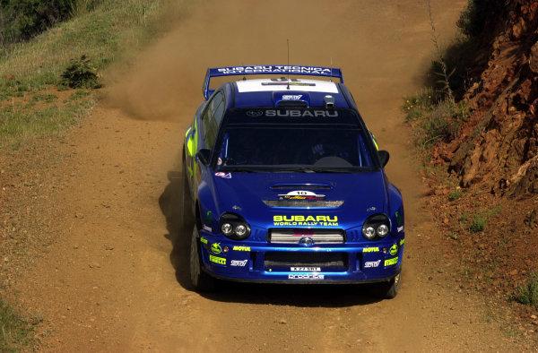 World Rally Championship, Cyprus Rally, April 18-21, 2002.Tommi Makinen during shakedownPhoto: Ralph Hardwick/LAT