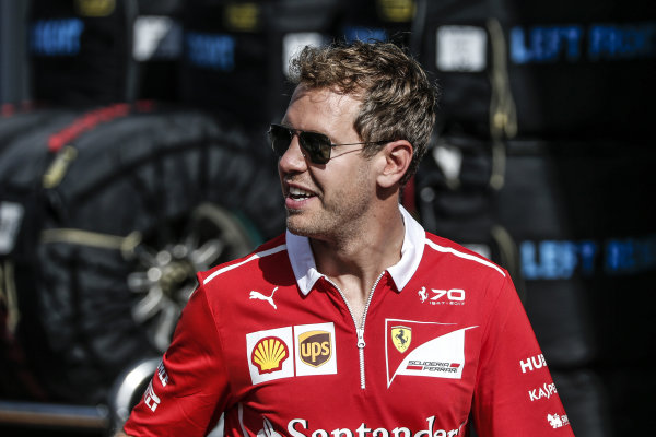 Sebastian Vettel (GER) Ferrari at Formula One World Championship, Rd9, Austrian Grand Prix, Practice, Spielberg, Austria, Friday 7 July 2017.