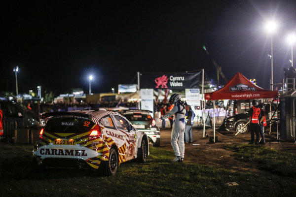 Matthew Wilson (GBR) / Stuart Loudon (GBR) C-Rally, Ford Fiesta R5 WRC2 at World Rally Championship, Rd12, Wales Rally GB, Day One, Deeside, Wales, 27 October 2017.